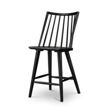Counter Stool Size Black Oak Finish Lewis Windsor Bar + Counter Stool