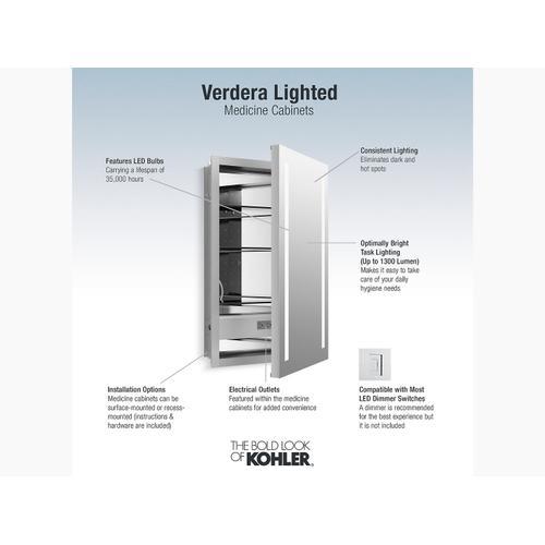 "Lighted Medicine Cabinet, 20"" W X 30"" H"