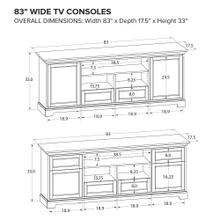 See Details - Howard Miller Custom TV Console TS83C