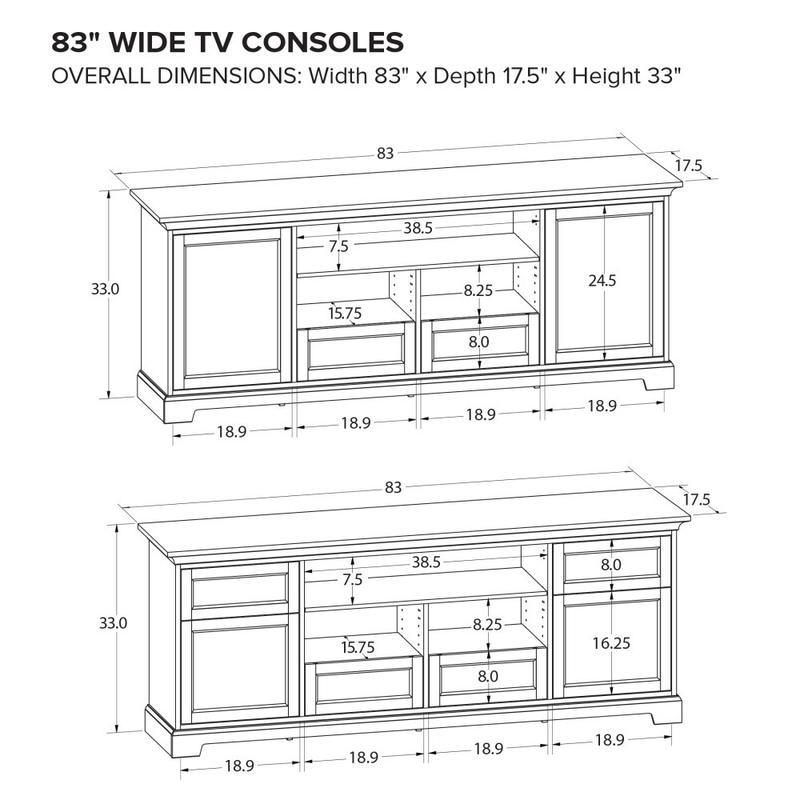 Howard Miller Custom TV Console TS83C