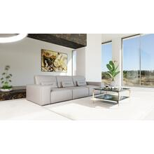 Accenti Italia Enjoy Italian Modern Grey White Leather Sofa