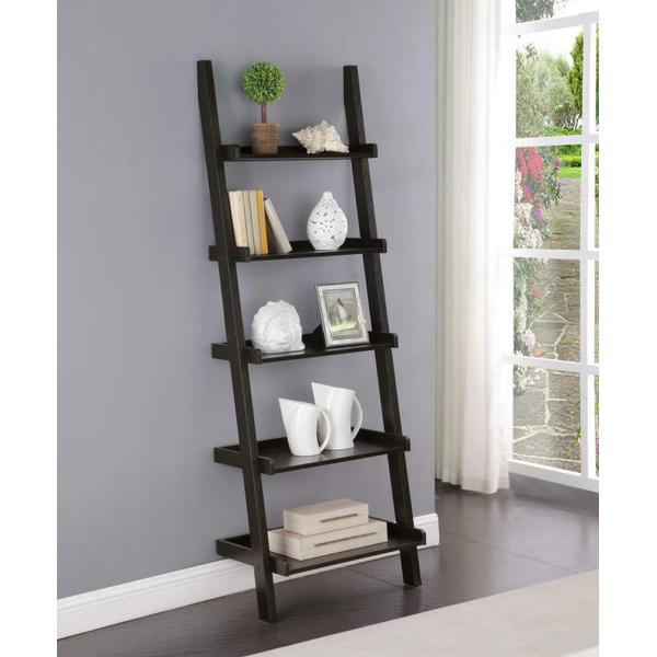 See Details - Transitional Cappuccino Bookcase