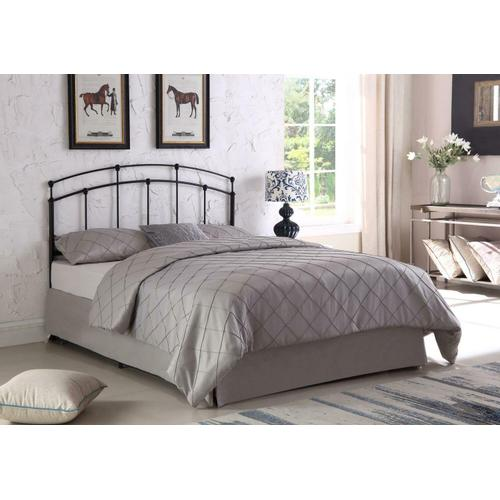 Coaster - Traditional Black Metal Headboard With Spindles