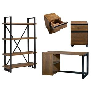 Bookcase - Russet Pine/Black Finish