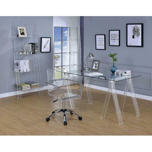 Coaster - Amaturo Clear Acrylic Ladder Bookcase