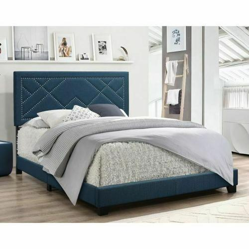 ACME Ishiko Eastern King Bed - 20857EK - Dark Teal Fabric