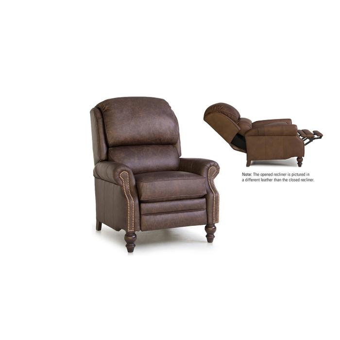 Smith Brothers Furniture - Leather Pressback Reclining Chair