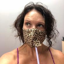 Product Image - Happy Hour Reusable Face Mask in Cheetah Gold