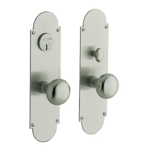 Satin Nickel with Lifetime Finish Boston Entrance Set