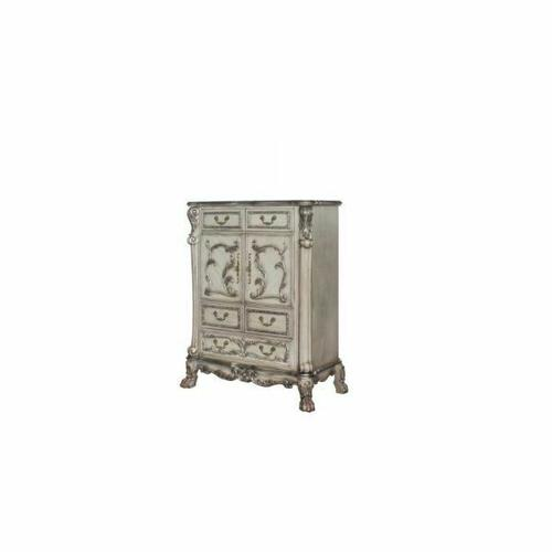 ACME Dresden Chest - 28176 - Traditional, Vintage - Wood (Poplar), MDF, Poly-Resin - Vintage Bone White