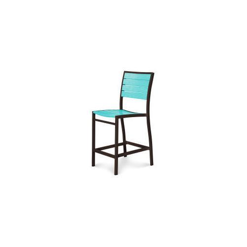 Polywood Furnishings - Eurou2122 Counter Side Chair in Textured Bronze / Aruba