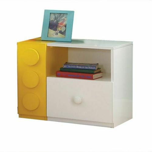 ACME Playground Nightstand - 30749 - White & Multi-Color