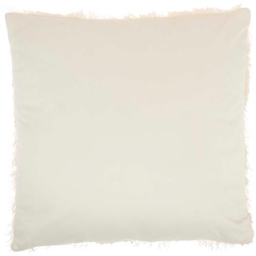 """Faux Fur L0296 Cream 18"""" X 18"""" Throw Pillow"""