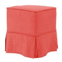 Universal Cube Cover Linen Slub Poppy - Skirted