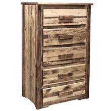 Homestead Collection 5 Drawer Chest of Drawers, Stain and Lacquer Finish
