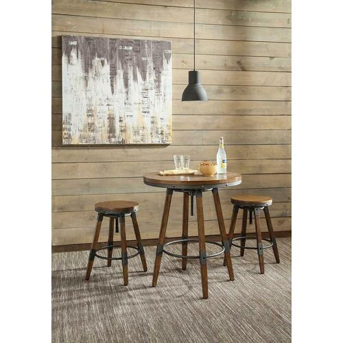 Gallery - Hornell Rustic Adjustable Bar Table