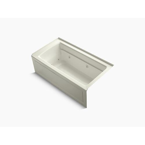 """Biscuit 60"""" X 32"""" Alcove Whirlpool With Integral Apron, Right-hand Drain and Heater"""