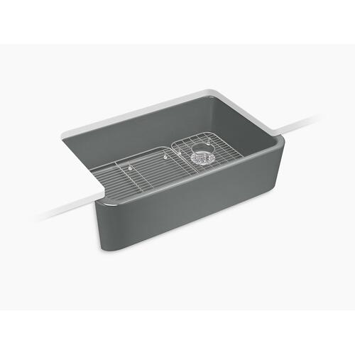 Basalt Undermount Single-bowl Farmhouse Kitchen Sink