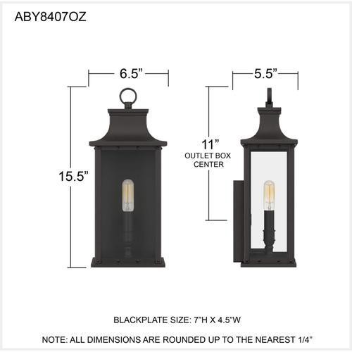 Quoizel - Abernathy Outdoor Lantern in Old Bronze