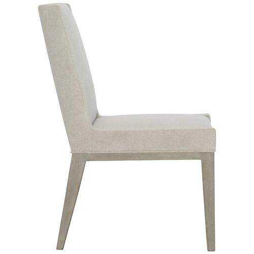 Gallery - Linea Upholstered Side Chair in Cerused Greige (384)