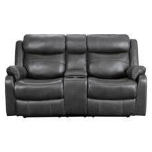 See Details - Double Lay Flat Reclining Love Seat with Center Console