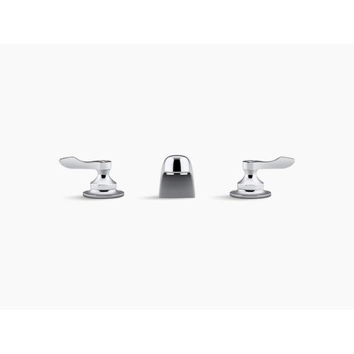Polished Chrome 1.0 Gpm Widespread Bathroom Sink Faucet With Aerated Flow and Lever Handles, Drain Not Included