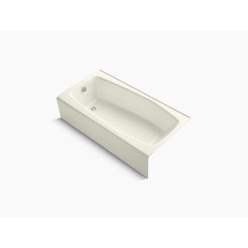 """Biscuit 60"""" X 30"""" Alcove Bath With Integral Apron and Left-hand Drain"""