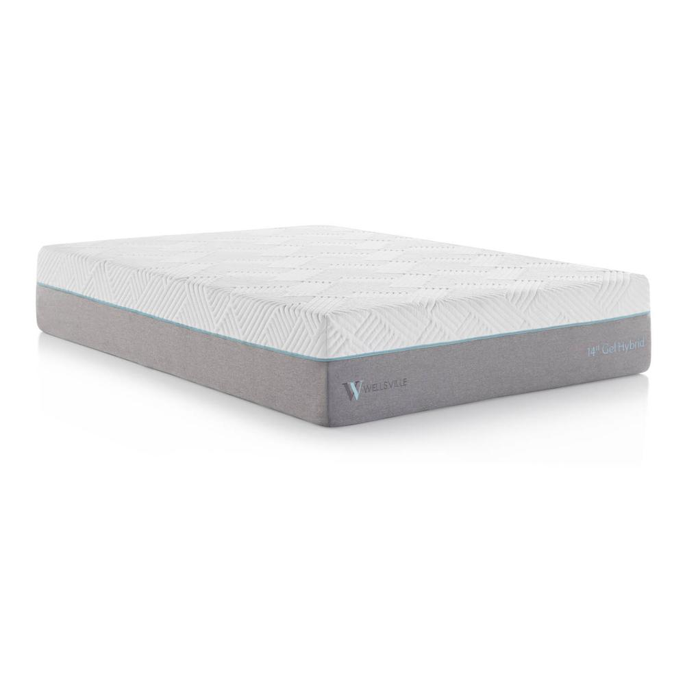 Wellsville 14 Inch Gel Hybrid Mattress Queen