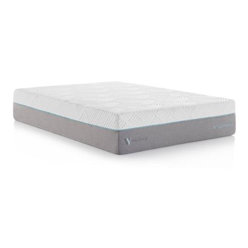 Wellsville 14 Inch Gel Hybrid Mattress Split Cal King