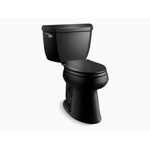 """Kohler - Black Black Two-piece Elongated 1.28 Gpf Chair Height Toilet With 10"""" Rough-in"""