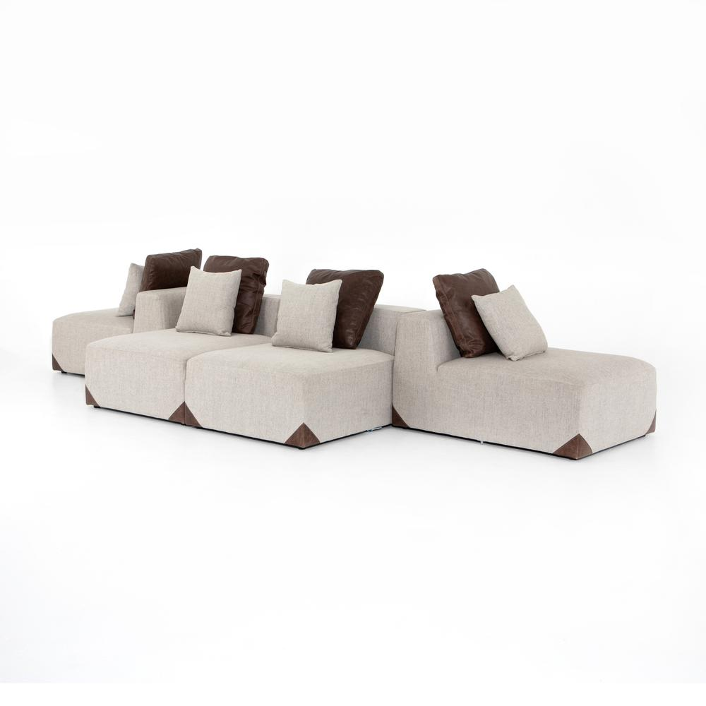 Madden 6 PC Pit Sectional-gabardine Whea