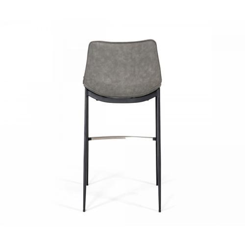 VIG Furniture - Modrest Jane - Modern Grey Eco-Leather Bar Stool (Set of 2)