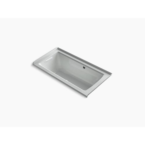 """Ice Grey 60"""" X 30"""" Integral Flange Heated Bubblemassage Air Bath With Bask Heated Surface and Left-hand Drain"""