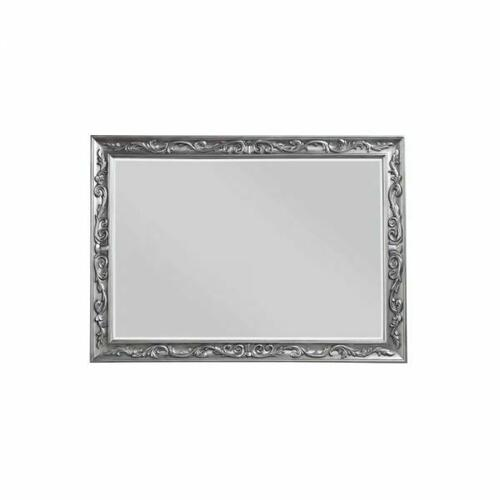 ACME Leonora Mirror - 22144 - Glam - Mirror, Wood (Poplar), Wood Veneer (Ash), Poly-Resin, MDF - Vintage Platinum