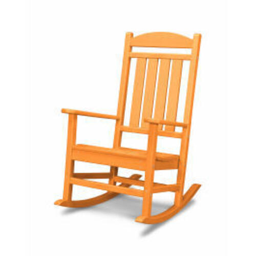 Polywood Furnishings - Presidential Rocking Chair in Tangerine