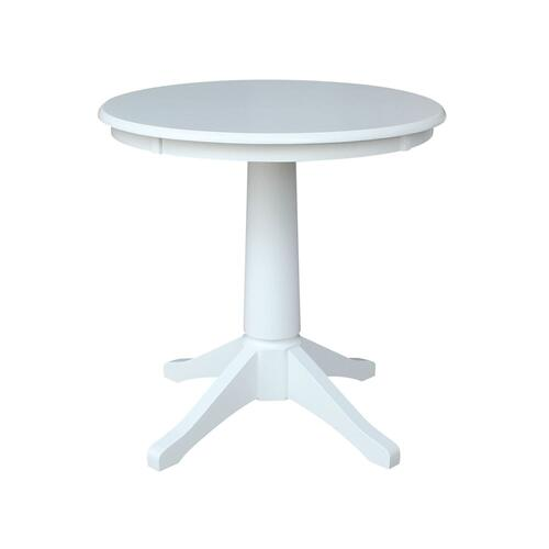 John Thomas Furniture - 30'' Pedestal Table in Pure White