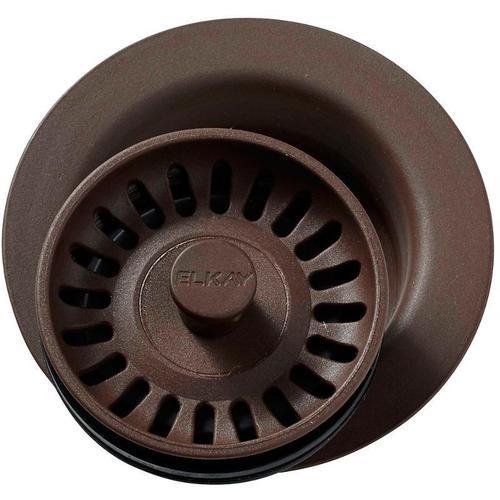 "Elkay - Elkay Polymer 3-1/2"" Disposer Flange with Removable Basket Strainer and Rubber Stopper Pecan"