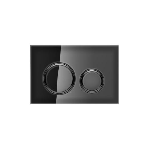 Sigma21 Dual-flush plates for Sigma series in-wall toilet systems Black Glass Finish