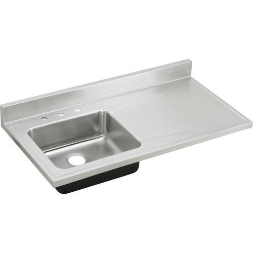 """Elkay Lustertone Classic Stainless Steel 48"""" x 25"""" x 7-1/2"""", Single Bowl Sink Top"""