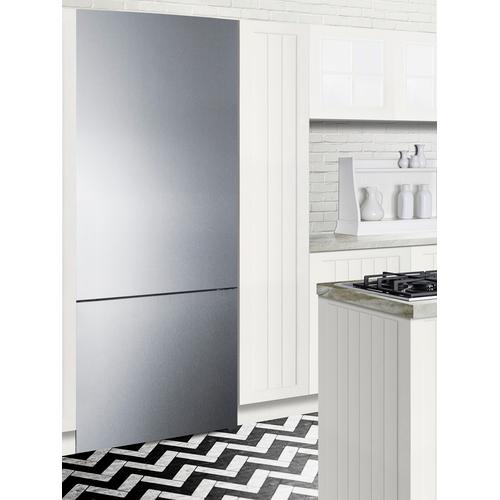 """28"""" Wide Built-in Bottom Freezer Refrigerator With Icemaker"""