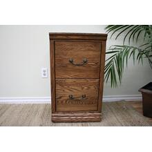 O-T178 Traditional Oak 2-Drawer Letter File Cabinet