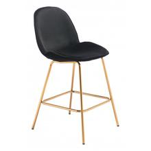 Siena Counter Chair Black & Gold