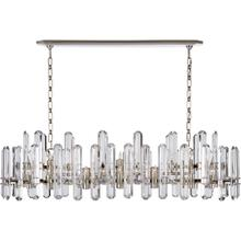 AERIN Bonnington 24 Light 55 inch Polished Nickel Linear Chandelier Ceiling Light, Large