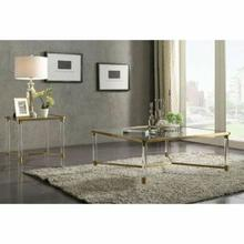 ACME Penstemon Coffee Table - 80095 - Clear Acrylic - Gold Stainless Steel & Clear Glass