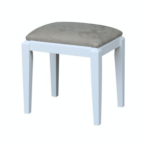 Upholstered Vanity Bench in White