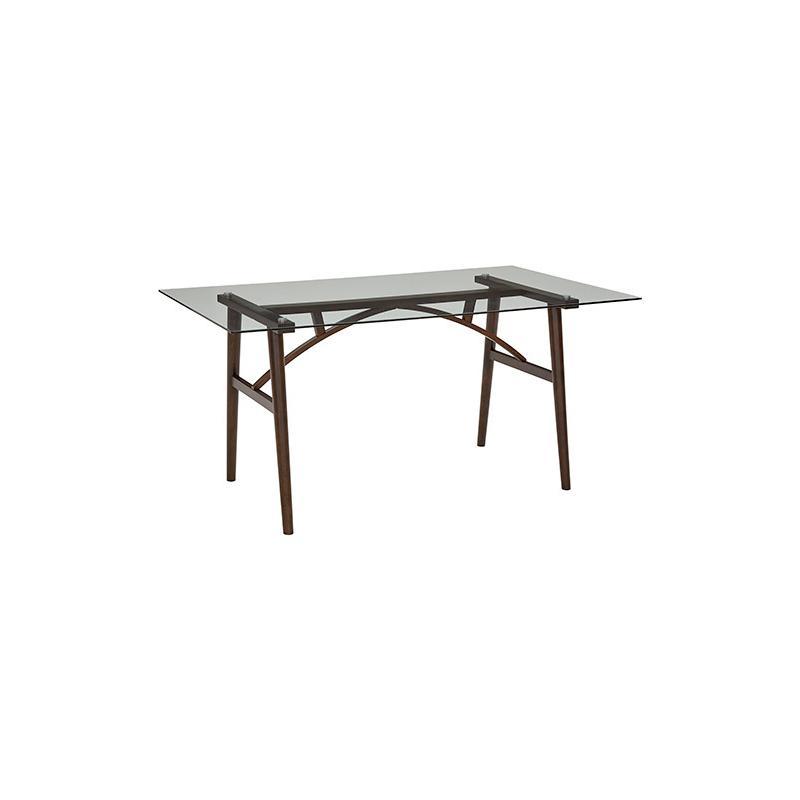 Rectangular Dining Table - Espresso/Glass Finish