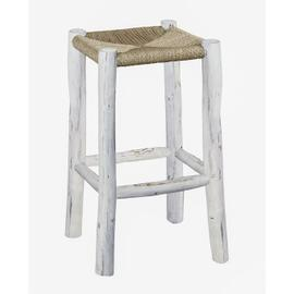 30 Inch Bar Stool - Natural/White Finish