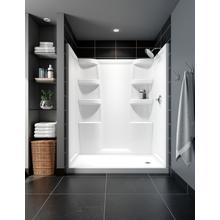 White ProCrylic 60 in. x 32 in. Shower Surround