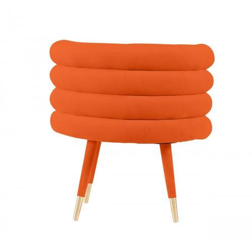 VIG Furniture - Modrest Otero - Modern Orange & Gold Velvet Accent Chair