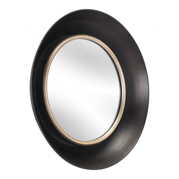 Leighton Mirror Black